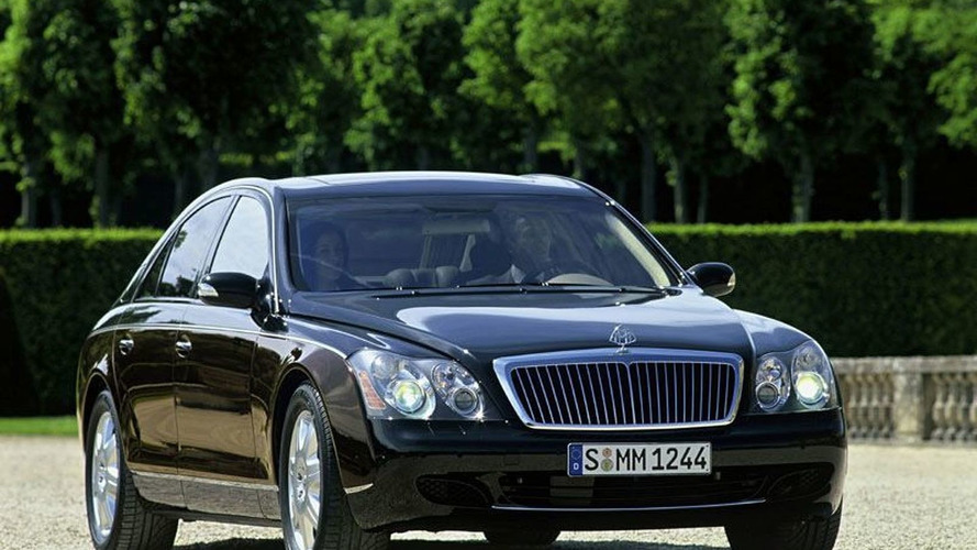 Maybach 57 left for dead in a parking lot [video]