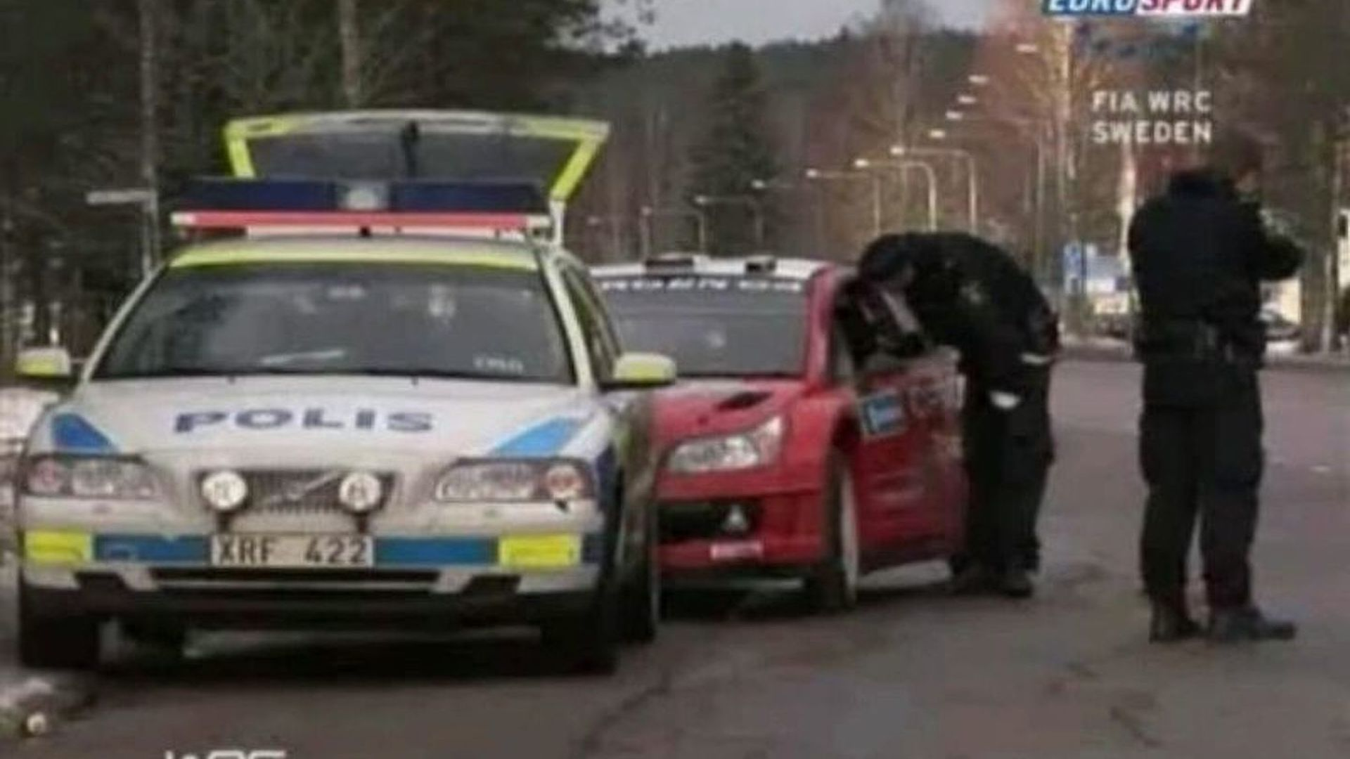 VIDEO: Rally Champ Sebastien Loeb Gets Speeding Ticket at Swedish Rally