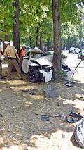 BMW M4 crash in Germany