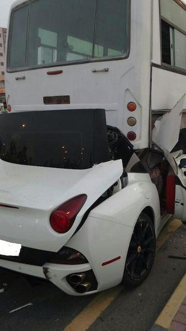 Ferrari California accident in UAE