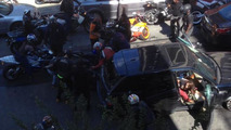 Same NYC bikers attacked a Prius in 2011 [video]