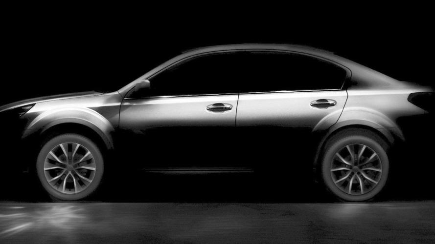 2013 Subaru Outback sedan teased for Beijing debut?