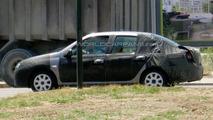 Dacia Mid-Size Sedan Spied