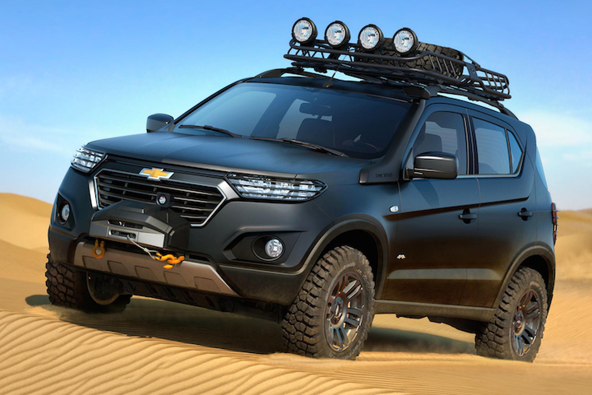 Chevrolet Niva 4x4 Barrels into Moscow Auto Show