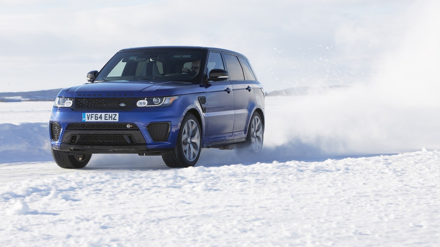Range Rover Sport SVR tackles ice-carved Silverstone replica on frozen lake [video]