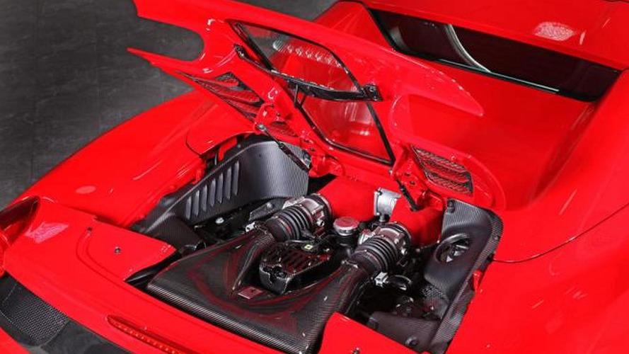 Ferrari 458 Spider gets a carbon fiber engine cover from Capristo
