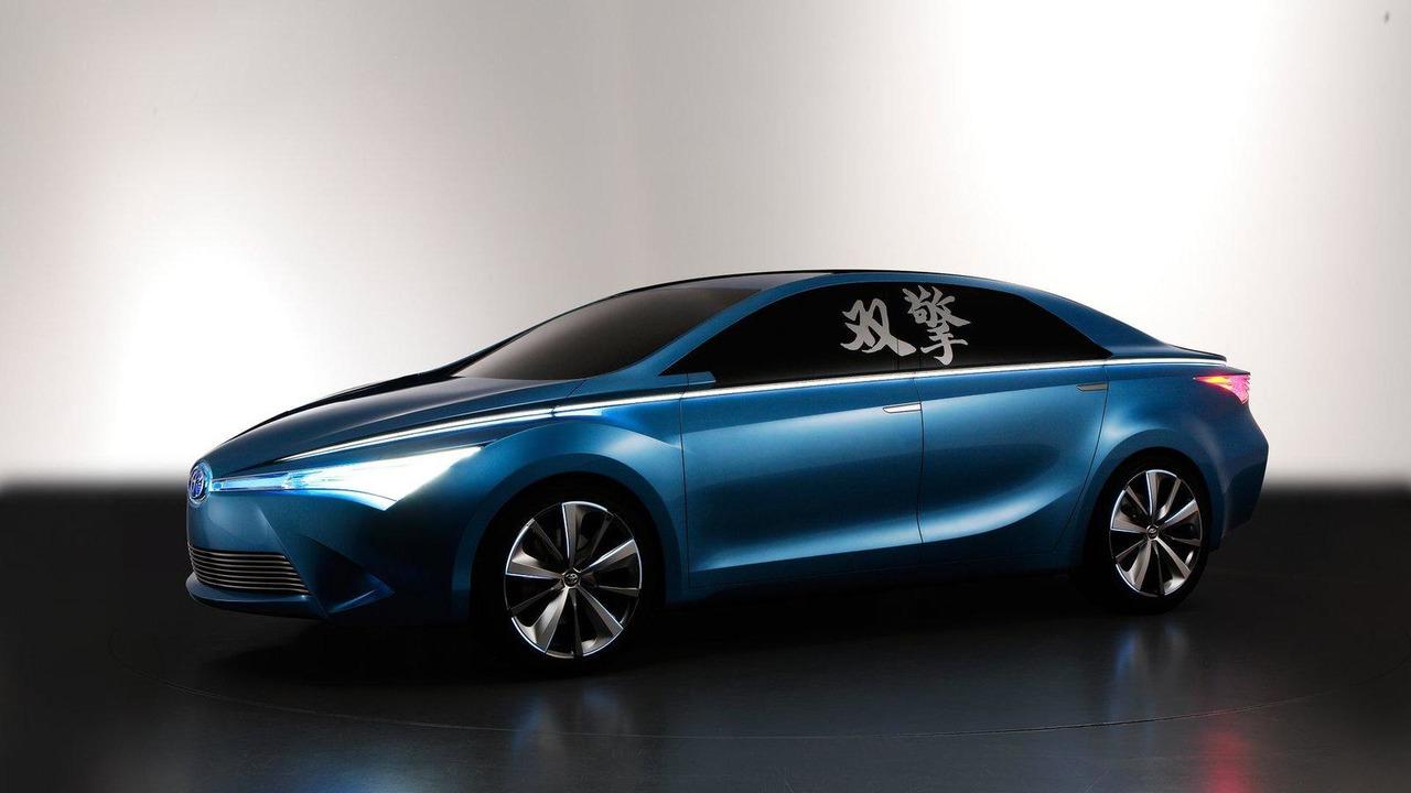 Toyota Yundong Shuangqing hybrid concept 23.04.2012