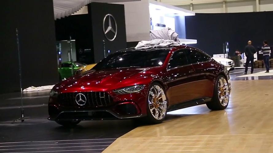 VIDÉO - La Mercedes-AMG GT Concept quitte discrètement Genève