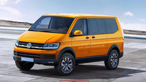Volkswagen Transporter 6 rendered based on the Tristar Concept