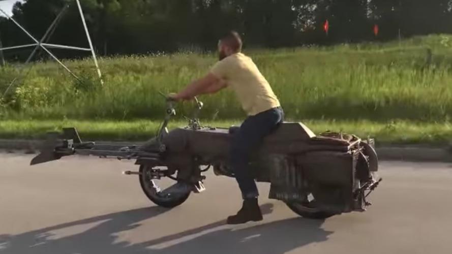 Custom Star Wars Speeder Bike motorcycle is simply amazing