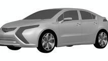 2011 Opel Ampera AKA European Volt Design Sketches Leak to Web