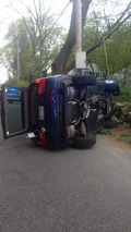 Driver blames bee for flipping his first-gen BMW X5