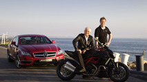 AMG to cooperate with Ducati: Ola Källenius, CEO of Mercedes-AMG GmbH and Gabriele del Torchio, President and CEO of Ducati Motor Holding S.p.A., are presenting the new Mercedes-Benz CLS63 AMG and the new Ducati Diavel 17.11.2010
