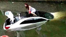 Mercedes-Benz CLA accident in China