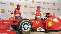 Lego-made Ferrari F1 car showcased in Melbourne [video]