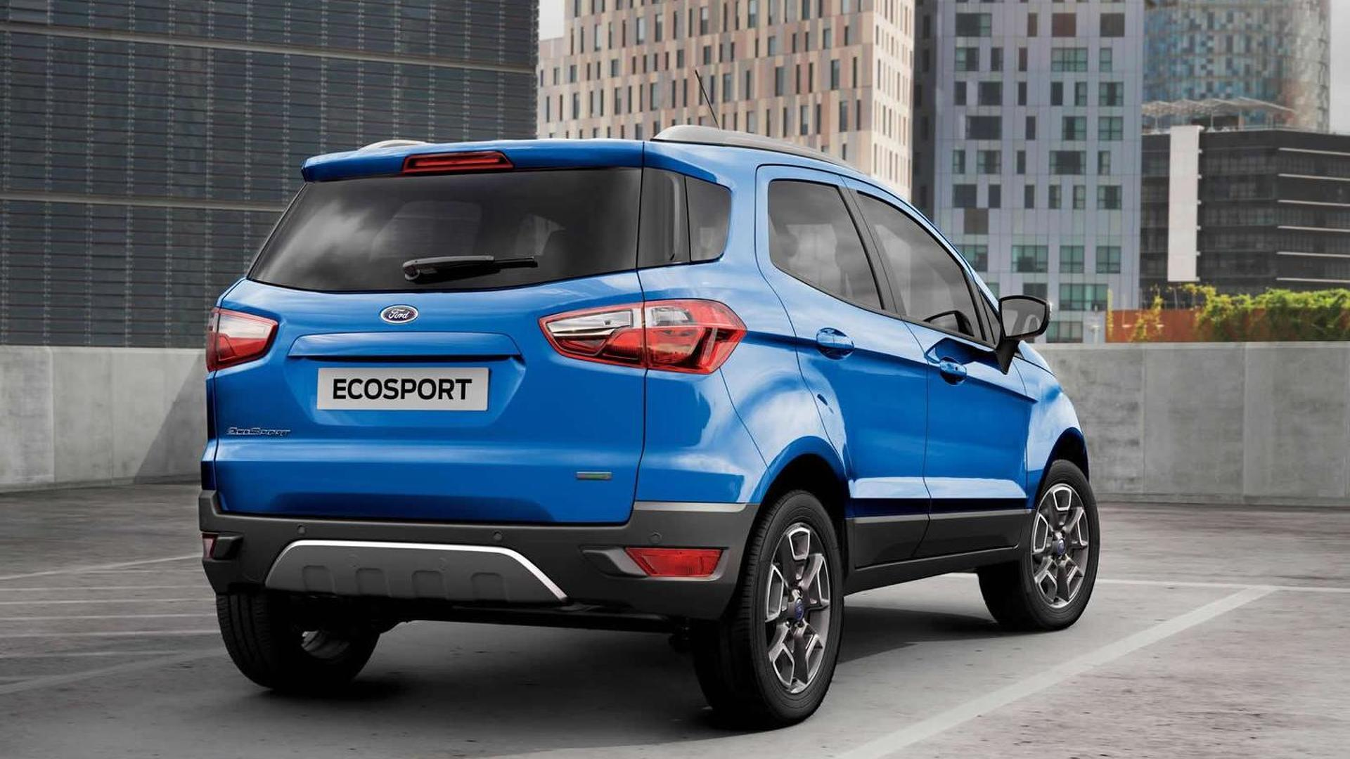 Ford EcoSport facelift sans rear-mounted spare wheel priced from £14,245