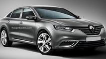 2016 Renault Laguna rendered based on spy photos