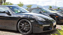 Porsche Boxster and Cayman facelift spied up close by WCF reader