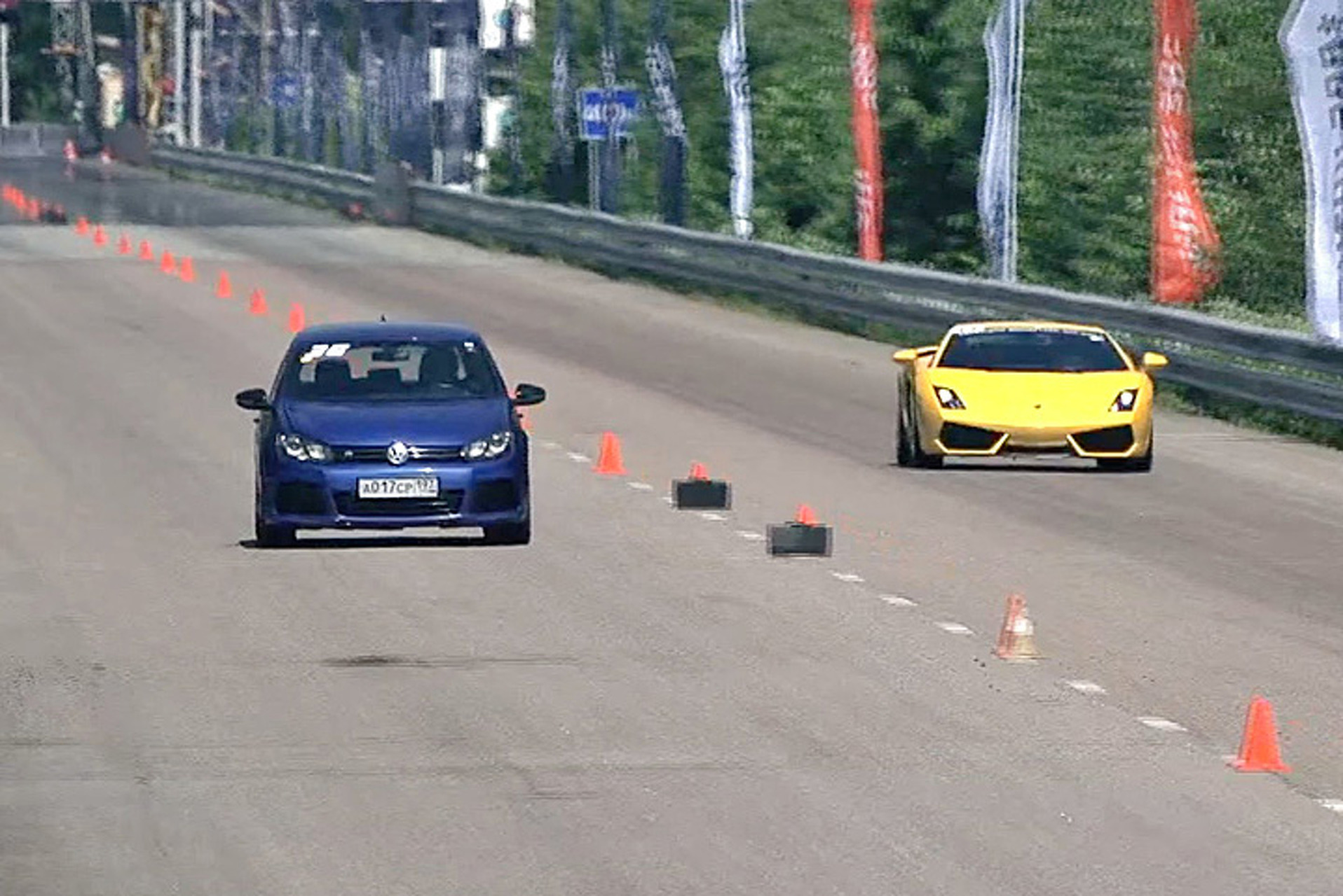 Watch this VW Golf Slay a Gallardo and More [Video]