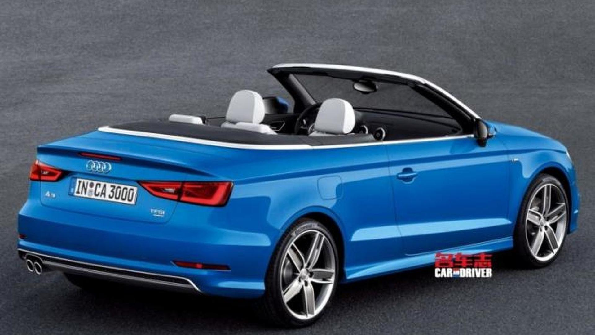 2014 audi a3 cabrio leaked. Black Bedroom Furniture Sets. Home Design Ideas