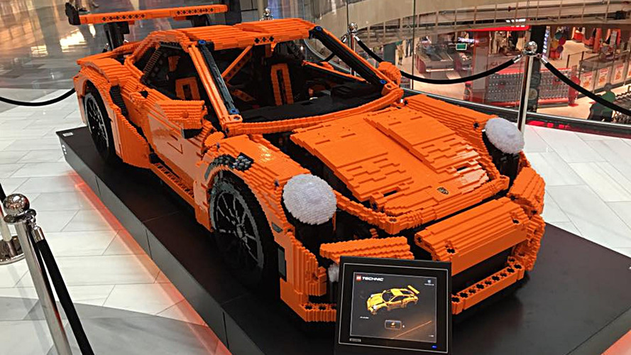 Full-scale Porsche 911 GT3 RS brings a Lego kit to life