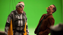 Jay Leno and Jerry Seinfeld in the making of Acura's Super Bowl Commercial 30.01.2012