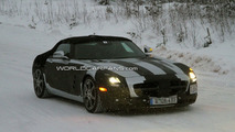 Mercedes SLS AMG Roadster First Spy Photos Winter Testing 15.12.2009