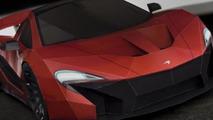 McLaren P1 paper replica