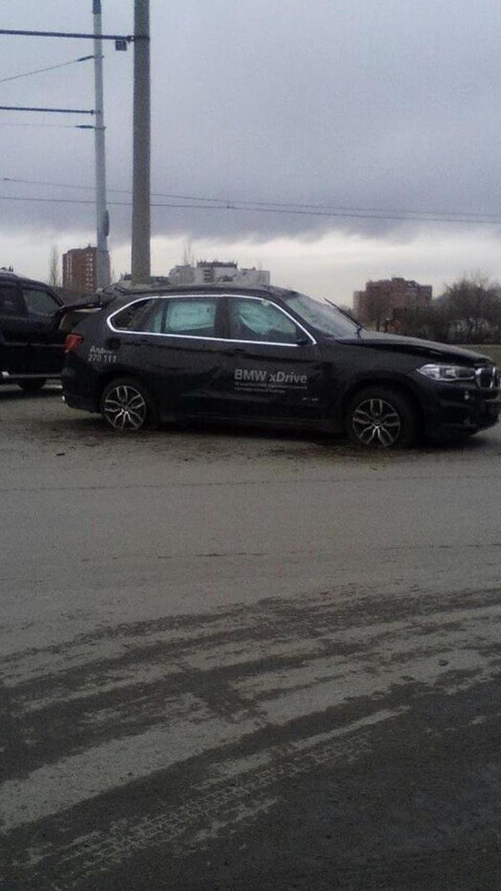 BMW X5 crashed during a test drive