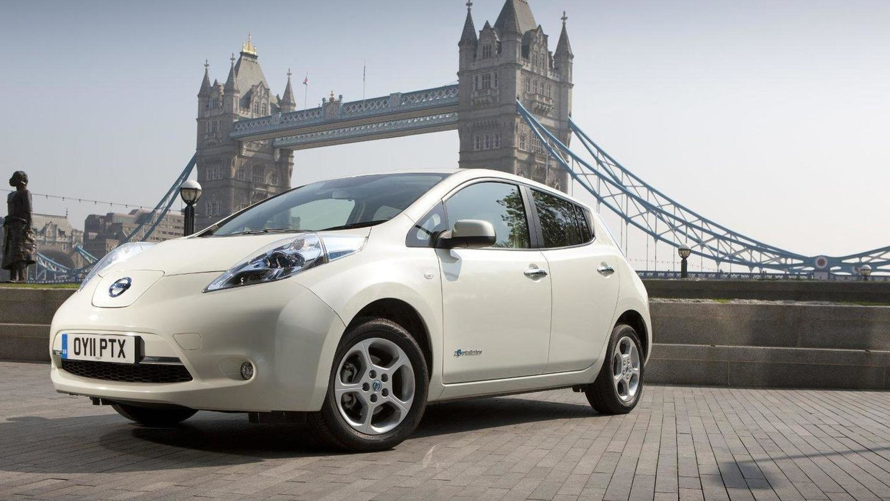Nissan Leaf in London 07.07.2011