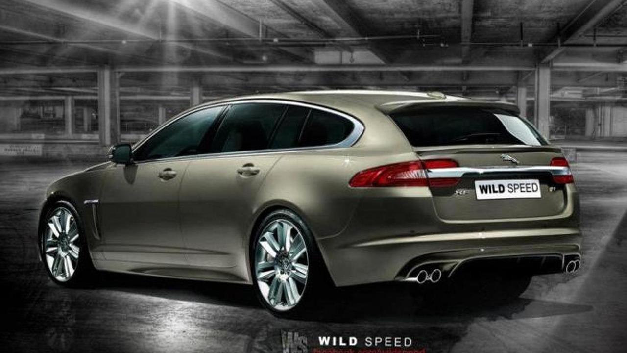 Jaguar XF-R Sportbrake artist rendering