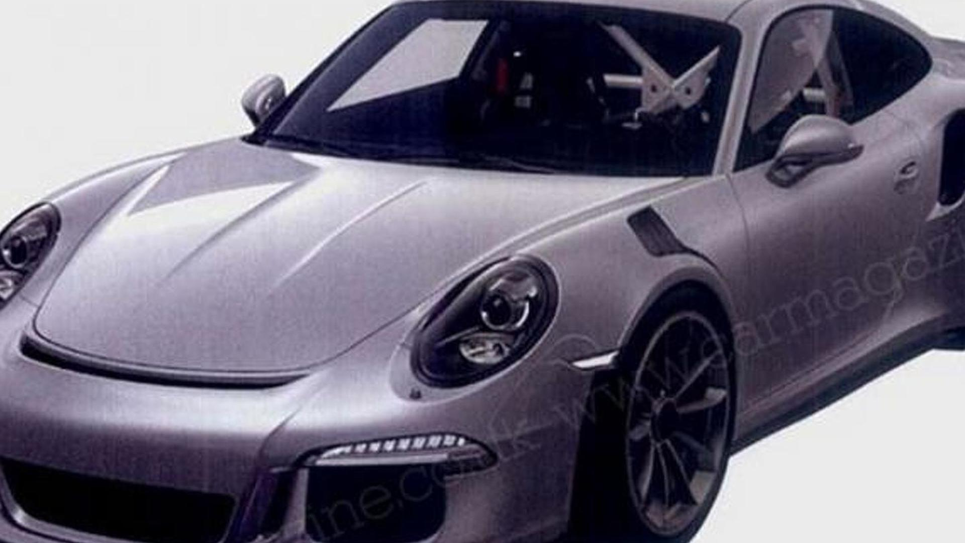 Porsche 911 GT3 RS revealed in new patent photos