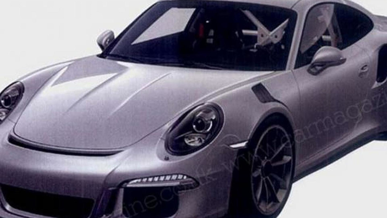 Porsche 911 GT3 RS patent photo
