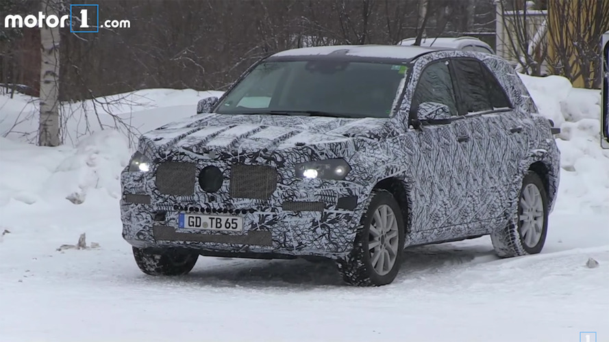 Next Mercedes-Benz GLE-Class spied in the snow