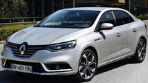 New Renault Fluence rendered based on spy photos