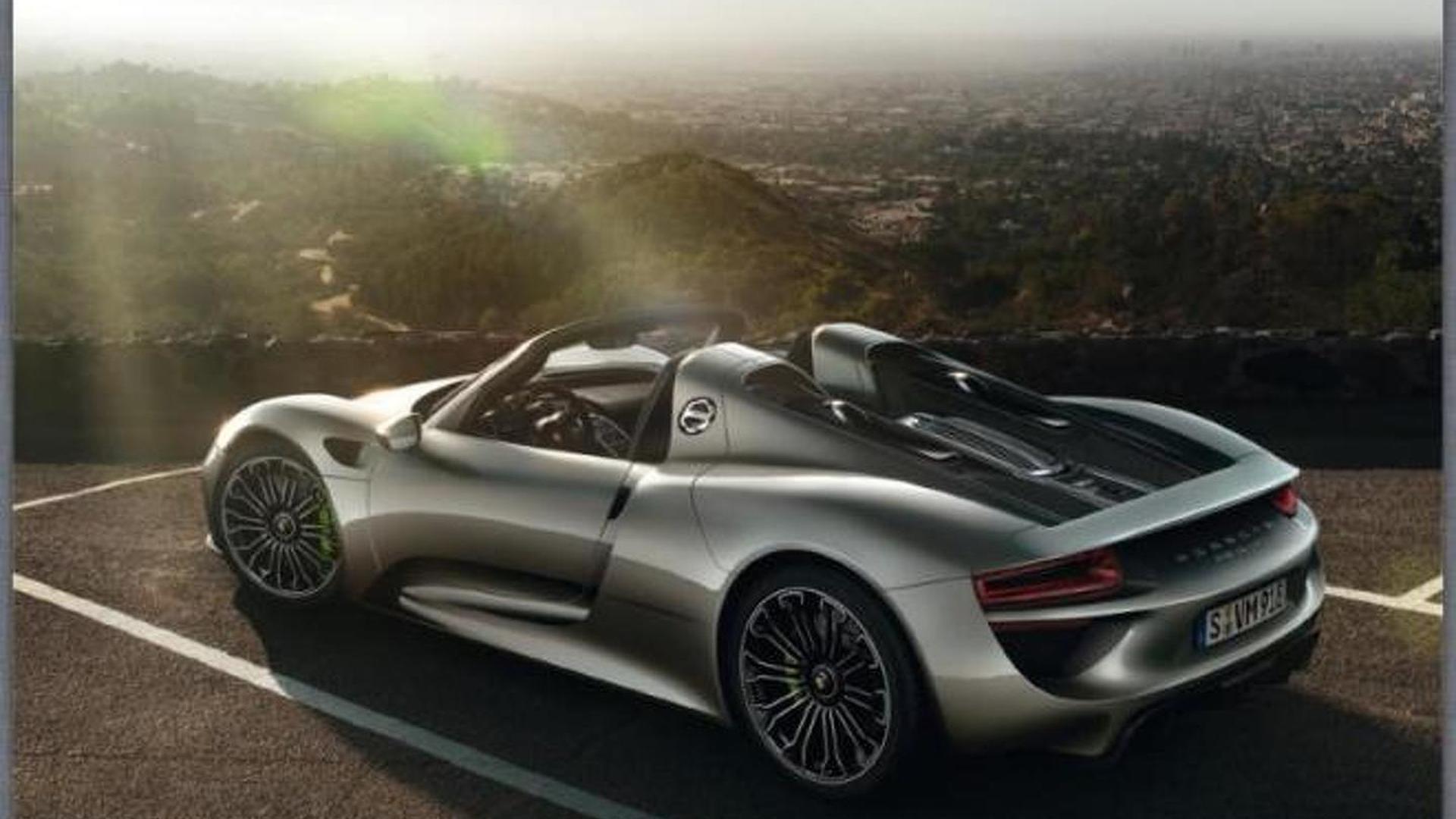 Porsche 918 Spyder revealed in leaked brochure?