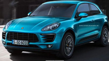 Porsche Macan three-door render 22.11.2013