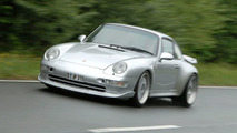 Porsche 993 Turbo Re-tuned by 9ff Test Drive