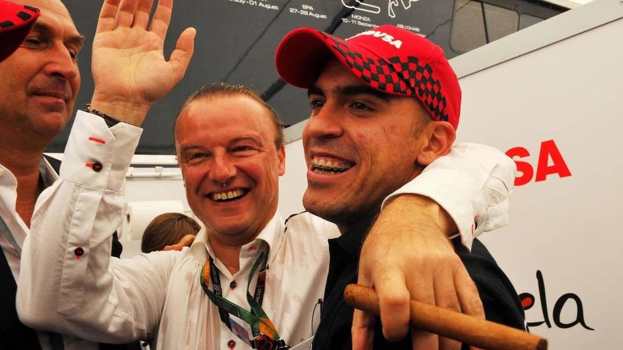 Pastor Maldonado (VEN), Rapax Team - GP2 Championship 2010, Rd 17 & 18, Italy, Sunday Podium, 12.09.2010 Monza, Italy