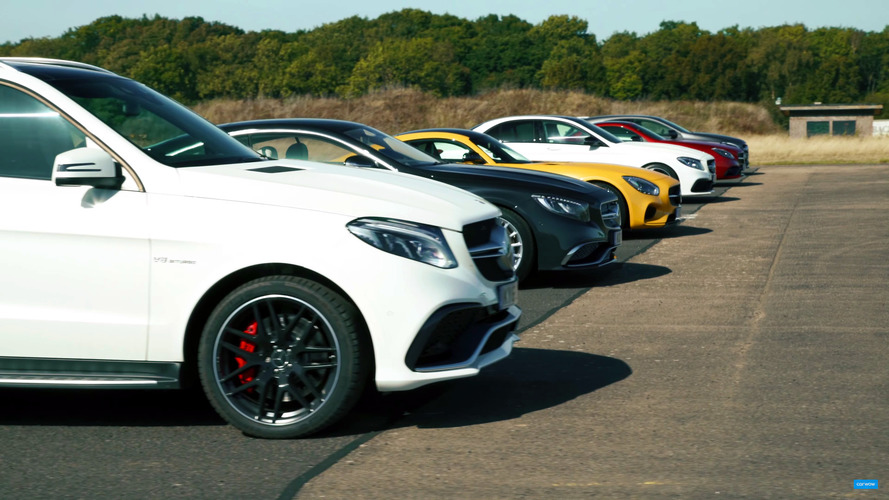 Watch Mercedes-AMG models drag race each other
