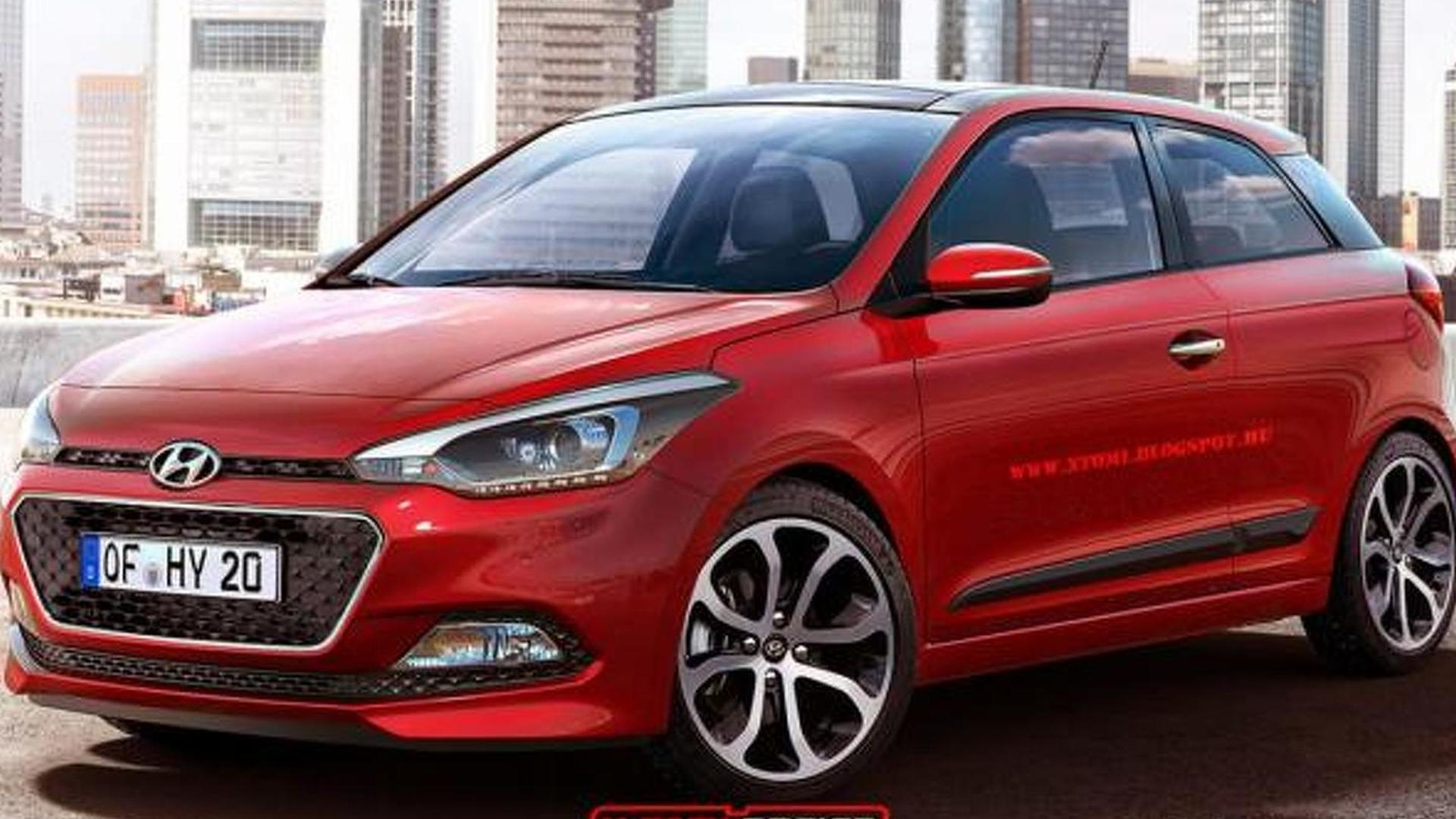 & All-new Hyundai i20 rendered without rear doors