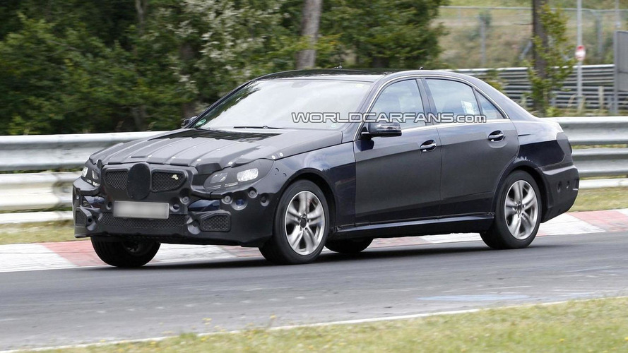 Mercedes E-Class facelift spied with less camouflage