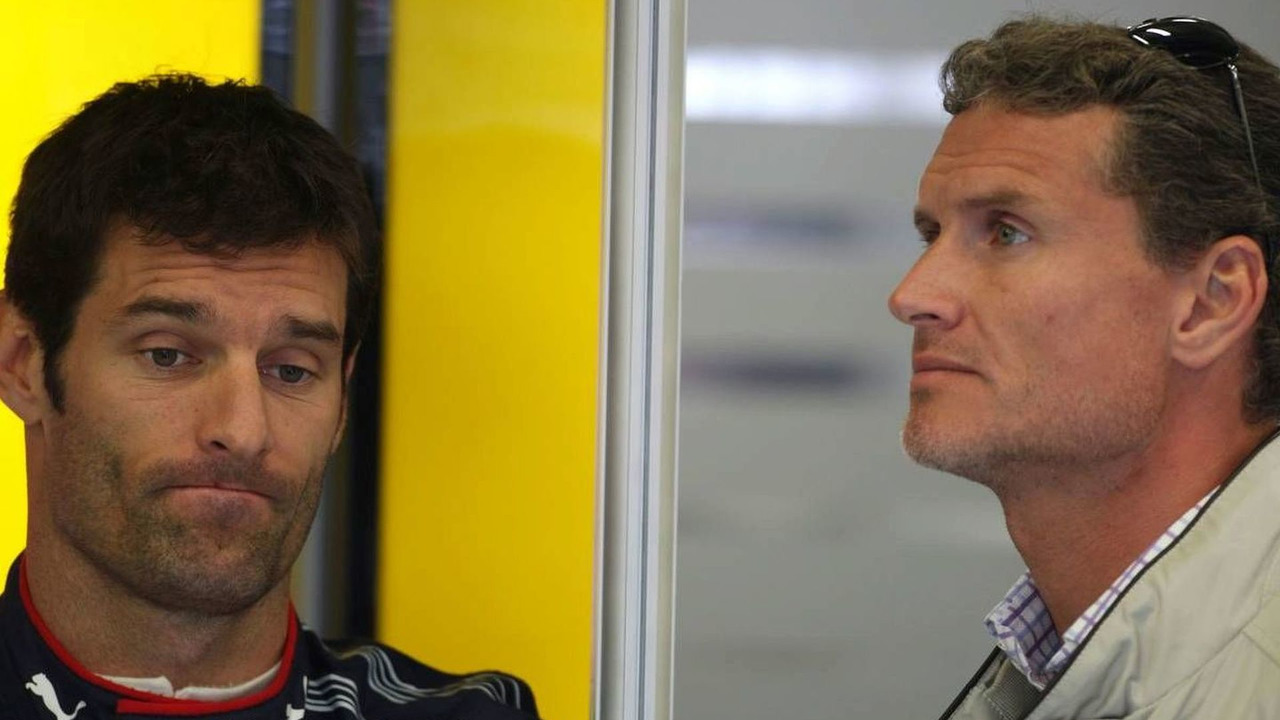 Mark Webber (AUS) and David Coulthard (GBR), Red Bull Racing, Belgian Grand Prix, Francorchamps, Belgium 29.08.2009