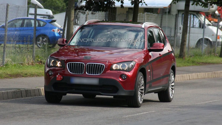 Red BMW X1 Prototype Spotted Virtually Undisguised