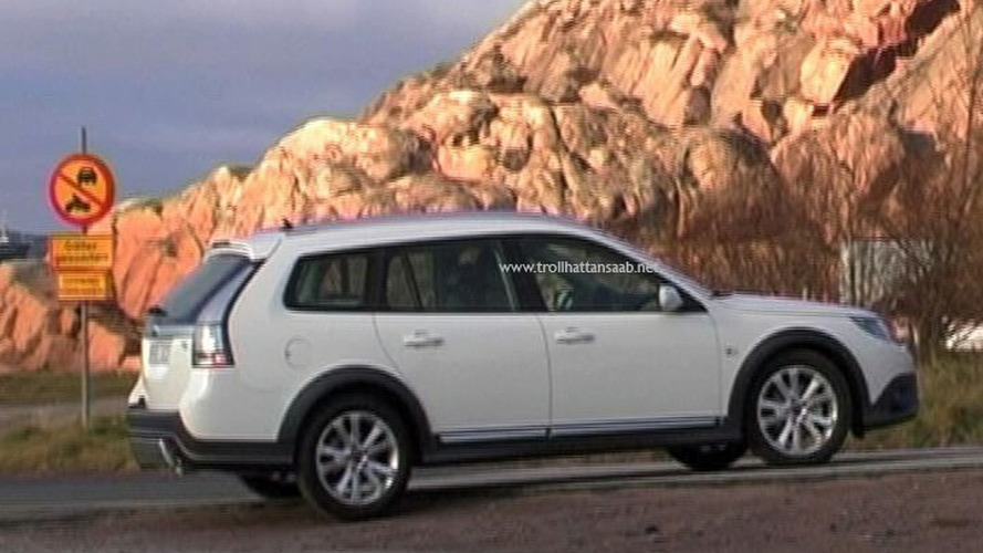 Saab 9-3X spied with no camouflage