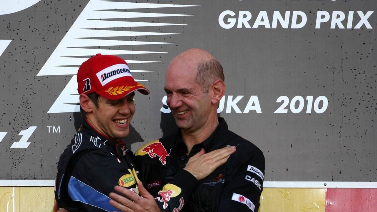 Sebastian Vettel (GER), Red Bull Racing and Adrian Newey (GBR), Red Bull Racing, Technical Operations Director - Formula 1 World Championship, Rd 16, Japanese Grand Prix, 10.10.2010 Suzuka, Japan