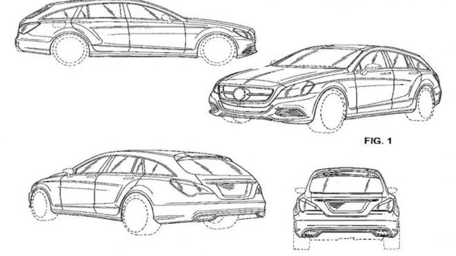 2013 Mercedes CLS Shooting Brake revealed in patent photos