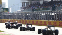 The cars take their grid positions, Russian Grand Prix, Sochi Autodrom / XPB
