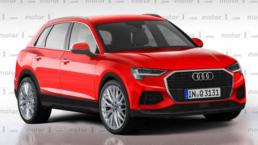2019 audi q3 render is a window into a predictable near future. Black Bedroom Furniture Sets. Home Design Ideas