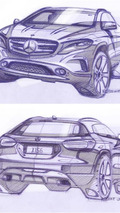 2014 Mercedes-Benz GLA design sketch 12.08.2013